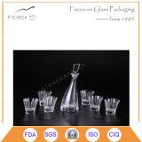 Frasco de vidro da venda quente com os copos na qualidade Home do nível da coleção