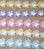 Mehrfache Farben-Milch-Garn-Stickerei-Großhandelsspitze für Dekoration