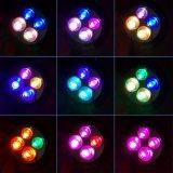 옥외 태양 점화 4개의 LED 정원 잔디밭 조경 벽 빛