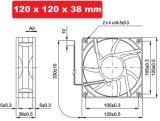 DC12038 sans frottoir axial du ventilateur 120*120*38 de ventilateur de refroidissement en plastique de C.C