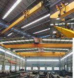 Grúas largas del alzamiento de la azotea de la fábrica que viajan de acero