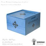 Rectángulo de madera de Hongdao, rectángulo azul desaparecido del vino que resbala la tapa