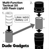 Torcia elettrica tattica multifunzionale di 3X LED