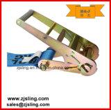 """4 de """" azul X 27 ' com a catraca da carga dos anéis-D que chicoteia a cinta"""