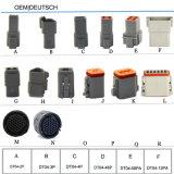 Connecteur imperméable à l'eau automatique Dt04-2p d'Allemand 2pin 4pin 6pin 8pin 12pin
