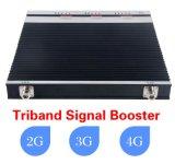 Amplificador de Triband do impulsionador do sinal do telefone de pilha do repetidor 2g 3G 4G 1800/2100/2600MHz da Tri-Faixa