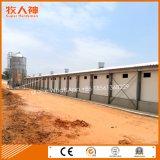 Camera di pollo prefabbricata con la strumentazione dell'alloggiamento dalla fabbrica