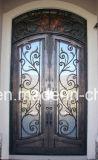 Inserções de vidro da porta do ferro feito do leão de Xiamen para a casa