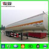 Del acero inoxidable del combustible del petrolero acoplado del carro de petrolero del combustible del Tri-Árbol del acoplado 45000L semi