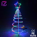 Luz de la Navidad del árbol LED de la iluminación de la cuerda del espiral de la Navidad del LED