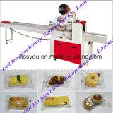 Máquina de embalagem horizontal do petisco da padaria do pão do biscoito do bolo do alimento