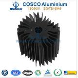 Алюминиевый/алюминиевый теплоотвод солнцецвета при CNC подвергая механической обработке & анодируя