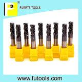 Moinho contínuo do cortador do CNC do carboneto da elevada precisão
