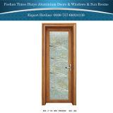 Aluminiumschwingen-Türen für Innenbadezimmer mit Eis-Blume