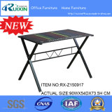 Simple feito sob encomenda Tempered Glass Table com Steel Frame
