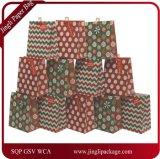 크리스마스 반짝임 디자인 선물 부대, 물색 종이 봉지, 선물 종이 봉지