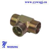 Adaptador apropiado de la te del conector apropiado hidráulico masculino de acero de las piezas de automóvil