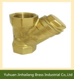 Fabrik Manufacture Forged Brass Water Filter Ball Valve für Air Bedingung
