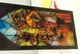 Aangemaakt Gebrandschilderd glas voor Deur en Venster