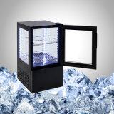 Tutto il frigorifero di vetro per la bevanda