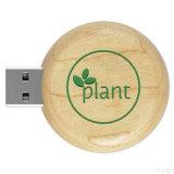De Houten Aandrijving USB van het merk met de Vorm en het Embleem van de Douane