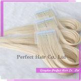 人間の毛髪の皮のよこ糸30インチのRemyテープ毛の拡張