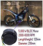 motor eléctrico de la moto del kit 48V /72V /96V BLDC de la conversión de la motocicleta 5kw