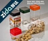 Glas-Nahrungsmittelbehälter-Plastikgläser, Dosen mit Kappen für Großverkauf