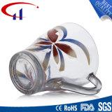 230ml vendem por atacado a caneca de vidro da água com flor (CHM8074)