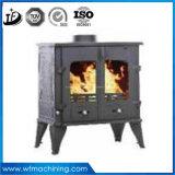 Fer travaillé personnalisé moulant la mini cheminée électrique de type européen utilisée en hiver