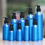 Botella de perfume cosmética de aluminio azul del petróleo esencial (NAL0502)