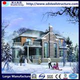ホームデザインのISOの証明書の現代デザイン鉄骨フレームの容器の家