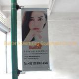 Dispositif de bandeau publicitaire de Pôle de réverbère en métal (BS-HS-007)