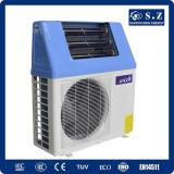 La eficacia alta de Dhw 60c de la familia salva el 80% Cop5.32 eléctrico Tankless 5kw, 7kw, sistema solar híbrido partido del calor del aire de la pompa de calor de 9kw 220V