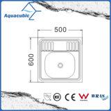 Раковина кухни Moduled шара нержавеющей стали одиночная (ACS-6050)