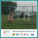 Comitati rivestiti della rete fissa dell'aeroporto della rete metallica del diamante del PVC/della rete fissa collegamento Chain