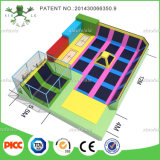 Indoor commerciale Trampoline con Ninja Warrior Course