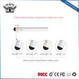China Venta directa de la fábrica 510 batería de la pluma de Vape Ecig delgada Batería 4-Step Voltage-Adjustment