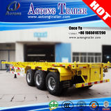 3つの車軸Skeleton Chassis 40ft Flatbed Container Semi Trailer