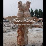Fontana rossa Mf-1039 di Ny della fontana di pietra di marmo del granito