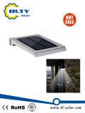 Iluminação solar do jardim do diodo emissor de luz da potência solar da luz da parede do diodo emissor de luz da lâmpada
