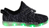 Scarpe da tennis chiare delle calzature LED di Flyknit che eseguono i pattini di sport (816-6914)