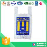 HDPE Shirt-Lebensmittelgeschäft-Beutel mit Ihnen besitzen Firmenzeichen