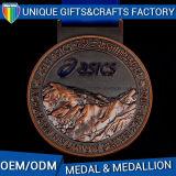 Medalhões feitos sob encomenda do esporte da cor do metal da medalha do prêmio de Nobel
