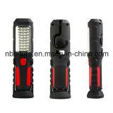 Sin cable, recargable 36 + 1 de trabajo del LED luz de la linterna base magnética, de la parte trasera