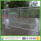 El perro de acero grande ejecuta la jaula al aire libre fuerte del perro del acero inoxidable