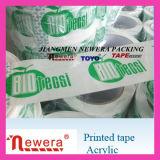 Ruban adhésif estampé par logo fait sur commande du prix bas BOPP d'usine pour le certificat de GV de cachetage de carton