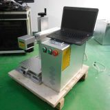 小型ファイバーレーザーのセリウムが付いているプラスチックシールの彫刻家機械
