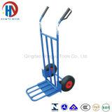 Camion de main de roue en métal deux de jardin/chariot lourds à main