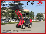De mini Lader van het Wiel met het 1000kg Geschatte Gewicht van de Lading (HY910)